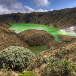 Laguna Verde, one of Colombia's many spectacular natural sites.