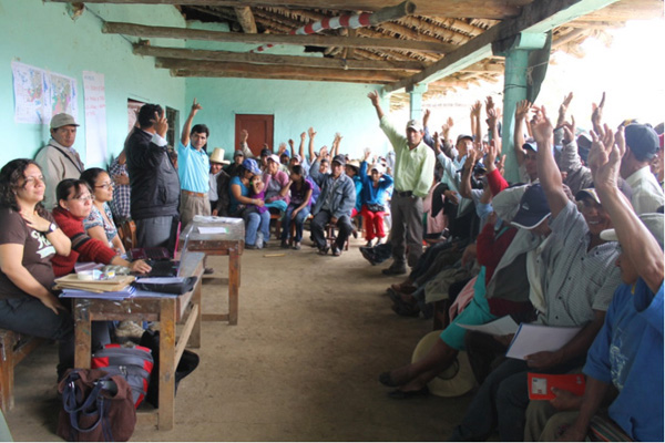 The San Jose de Tapal community creating a community reserve in Andes of Peru.