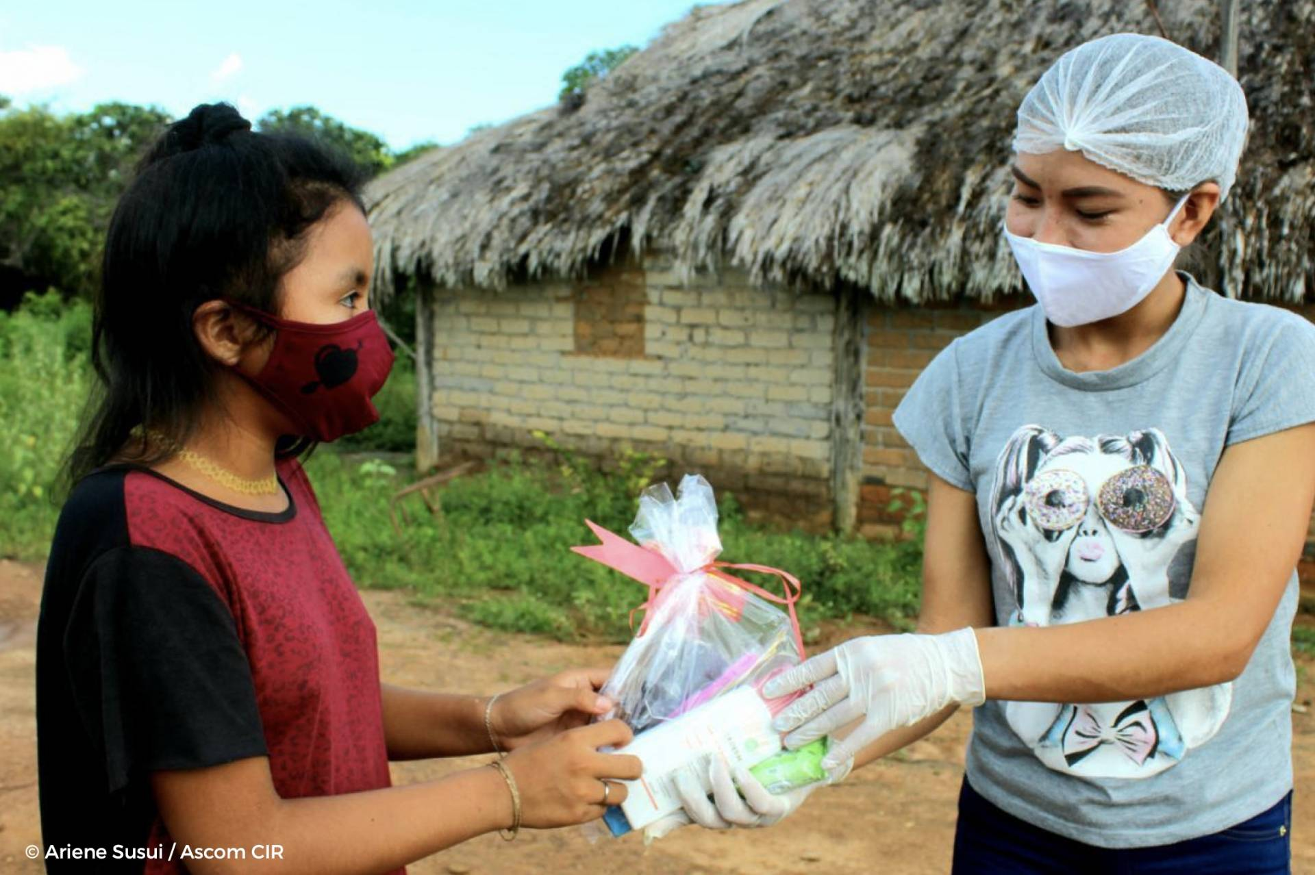 Kits include hygiene products to help communities protect themselves against COVID-19.