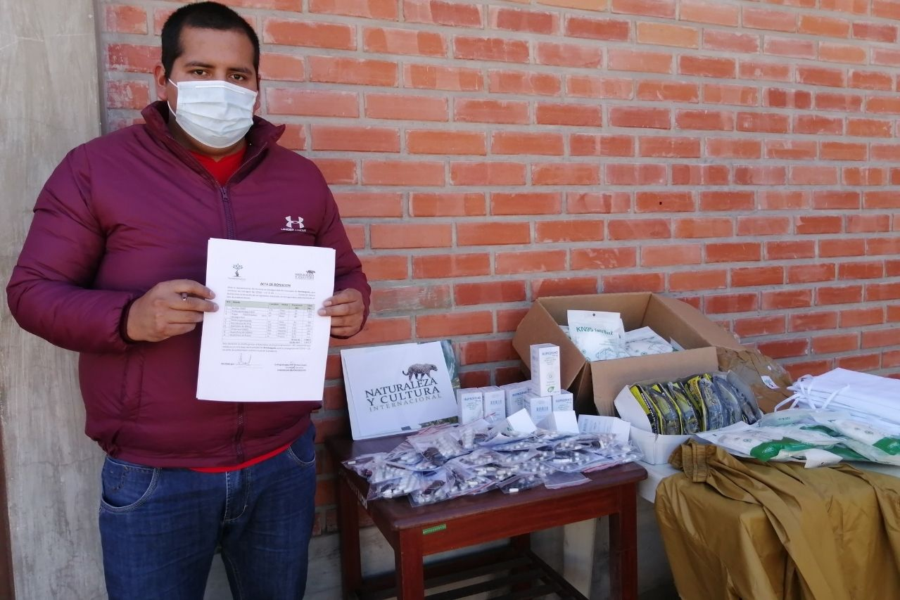 Donated supplies in Monteagudo.
